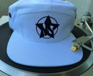 White NorthStarr Classic 5 panel Vinyl hat with white NorthStarr Logo (by NorthStarr Media Group).